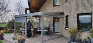 Terrassendach mit Schiebeanlage